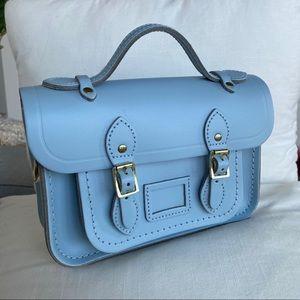 Sky blue Cambridge Satchel mini bag